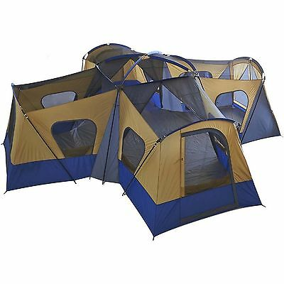 Camping Instant Tent 14 Person 20' x 20' Base Camp Family Cabin Canopy Large NEW