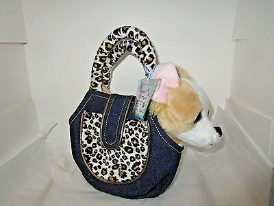 Webkinz Plush Pet Carrier - New with Sealed Code - animal print bag