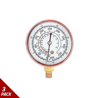 FJC Inc. R12/R134A Dual Replacement Gauge High Side [3 Pack]