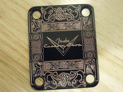 Black Celtic Design Custom Guitar Neck Plate Telecaster/stratocaster. New