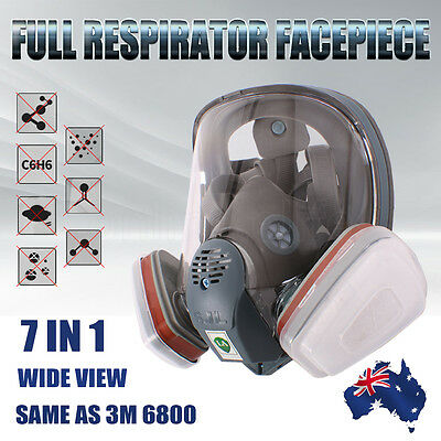 7PCS Suit Respirator Full Facepiece Mask Gas Spraying Painting Same as 3M 6800