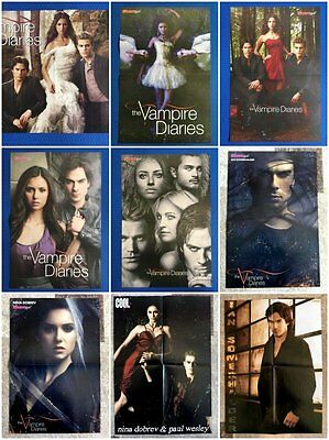 VAMPIRE DIARIES: Ian Somerhalder, Nina Dobrev, Paul Wesley - 19 Poster Clippings