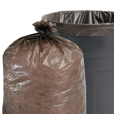 ABILITY ONE Recycled Trash Bags,60 gal.,Black,PK20, 8105-01-517-3668