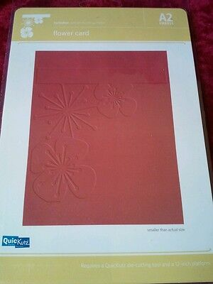 Quick Cut CRAFT EMBOSSING FOLDER A2 Flower Card textured impressions sizzix