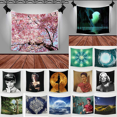 Polyester Hanging Tapestry Bedspread Wall Sticker Beach Towel Home Decor