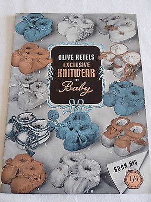 VINTAGE OLIVE KETELS EXCLUSIVE KNITWEAR FOR BABY BOOK No 3 - KNITTING PATTERNS