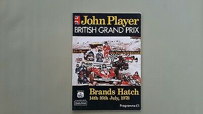 Brands Hatch Formula One British Grand Prix 1978 Official Programme