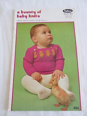 Vintage Patons A Bounty Of Baby Knits - Knitting Book 369 - Baby Patterns