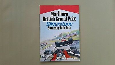 Silverstone Formula One British Grand Prix 1979 Official Programme