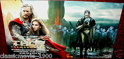 "Thor The Dark World Chris Hemsworth 6 Lobby Cards 11"" X 20"""