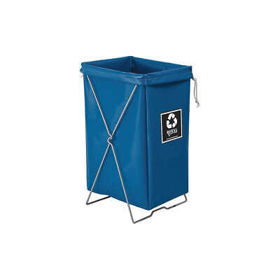 ROYAL BASKET TRUCK Steel, Vinyl Enviro Hamper Kit,30 gal,Blue, G00-BBX-EBK, Blue