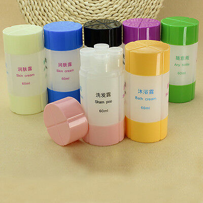 4 in 1 Shampoo Shower Bag Containing Travel Set Refillable Empty Bottles