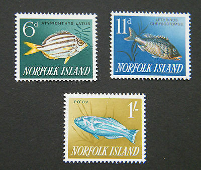 1962 Norfok Island Fish Part Set. MM.