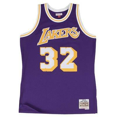 Mitchell & Ness Magic Johnson #32 LA Lakers 1984-85 Swingman NBA Trikot Lila