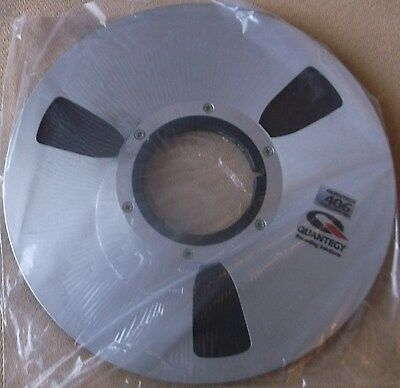 "10½  REEL ( ¼"") NEW QUANTEGY 406 TAPE ON USED NAB REEL IN BOX for Revox Teac"