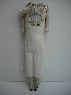 """14"""" Antique Cloth Dolls Body With Composition Limbs For Shoulderhead"""