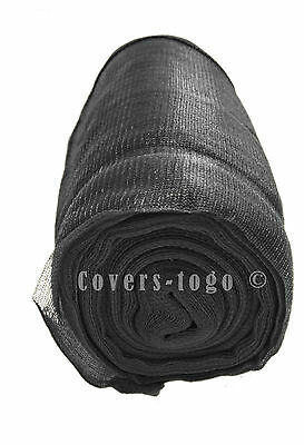 2M X 20M Black Debris Netting Scaffold Sheeting Garden Screen Crop Windbreak
