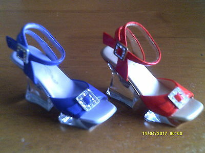 2 JUST THE RIGHT SHOE- COLLECTIBLE SHOES BY RAINE Night Fever/Plum