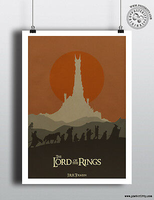 LORD OF THE RINGS - Minimalist Movie Poster Print Posteritty JRR Tolkien LOTR