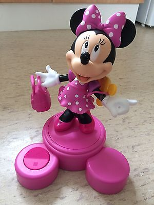 Disney Rotating minnie mouse figurine on stand with accessories pink
