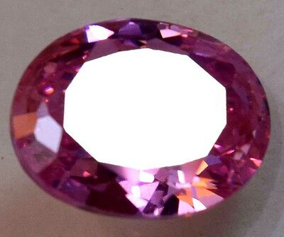 5.95 Ct Natural Pink ZIRCON GGL Certified Oval Cut Cambodian Ring Use Gemstone