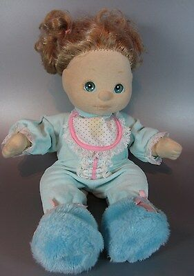 Vintage Mattel My Child Doll 1985 blonde ash Hair Styled in pigtails Aqua eyes