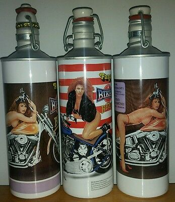 3 Different Fancy Biker Beer Can/aluminum Bottles From Germany