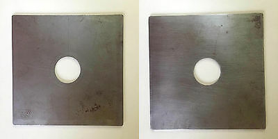 MPP 5x4 PLAIN Lens board 33mm Hole - METAL  *Used*