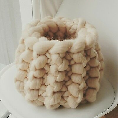 Baby Pod Cream Wool Basket Newborn Baby Posing Photography Prop