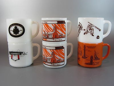 Vintage Federal 6 Coffee Mugs advertising Souvenir Cape Cod Fort Henry Village