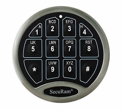 Securam Basic Replacement Electronic Keypad & Lock for Commercial or Gun Safe