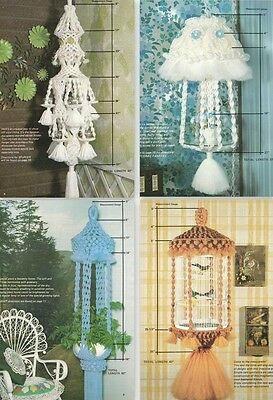 "Vintage 1978 Macrame Pattern Book ""classic Macrame"" There Are 9 Projects"