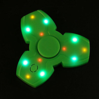 LED Light Flashing Hand Spinner Triangle EDC With Wireless Bluetooth Speaker
