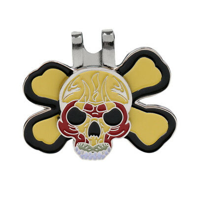 Sturdy Punk Skull Magnetic Hat Visor Clip Golf Ball Markers Golf Accessories