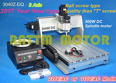 New Deasktop 3 Axis Mach3 3040Z-DQ CNC Router Engraver Engraving Milling Machine