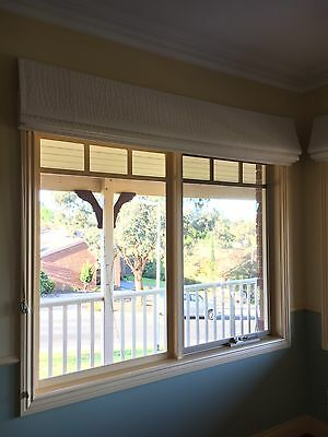 White Roman Blinds X 4