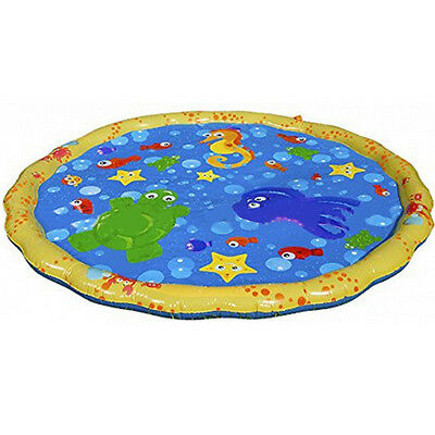 Children Inflatable Splash Water Mat Sprinkler Outdoor Garden Fun Game