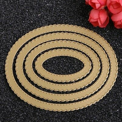 Lace Oval Cutting Dies Stencil DIY Scrapbooking Album Paper Card Embossing Craft