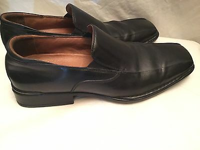 Rockport Mens Size 13M Black Leather Slip On Dress Casual Shoes Padded Comfort