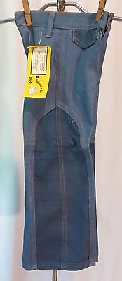 Vintage 70s Kids Bell Bottome Pants Jeans Denim Dead Stock sz 4