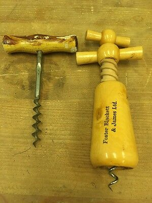 2 Vintage Wooden Bottle Openers Foster Blackett