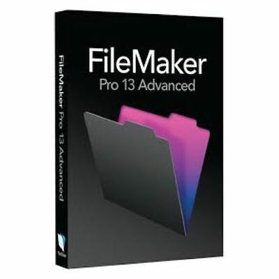 Filemaker Pro 13 Advanced Full Retail US English version WIN/MAC DVD