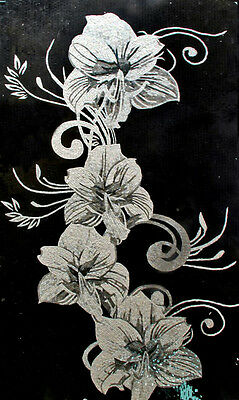 Black and White Floral Handcut Mosaic