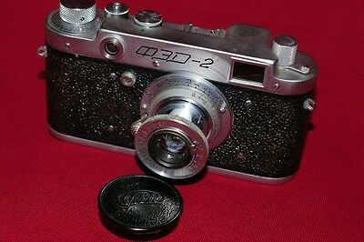 FED-2 Soviet rangefinder camera with collapsible lens FED 3,5/50. CLA.