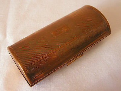 "Vintage Oval Kigu 1969 Engine Turned Cigarette Case Engraved Initials ""o J"""