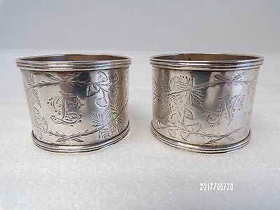 English Victorian Solid silver Napkin Ring's c1882