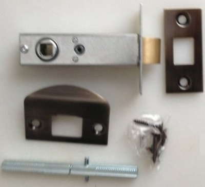 Lot of 3 Tubular Latch Retrofit kit, Antique Brass Heavy Duty - Fit Your Antique