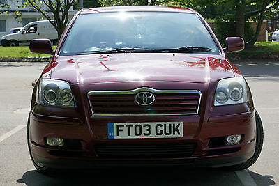 2003 Tayota Avensis T4 D-4D 2.0 Diesel Red  2 owners from new