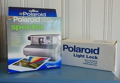 """""""New in Box"""" Polaroid Spectra Instant Camera with Light Lock Close Up Lens"""