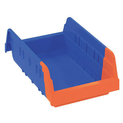 AKRO-MILS Indicator Bin,11-5/8L x6-3/4W In,Bl/Org, 36462BLUE, Blue/Orange